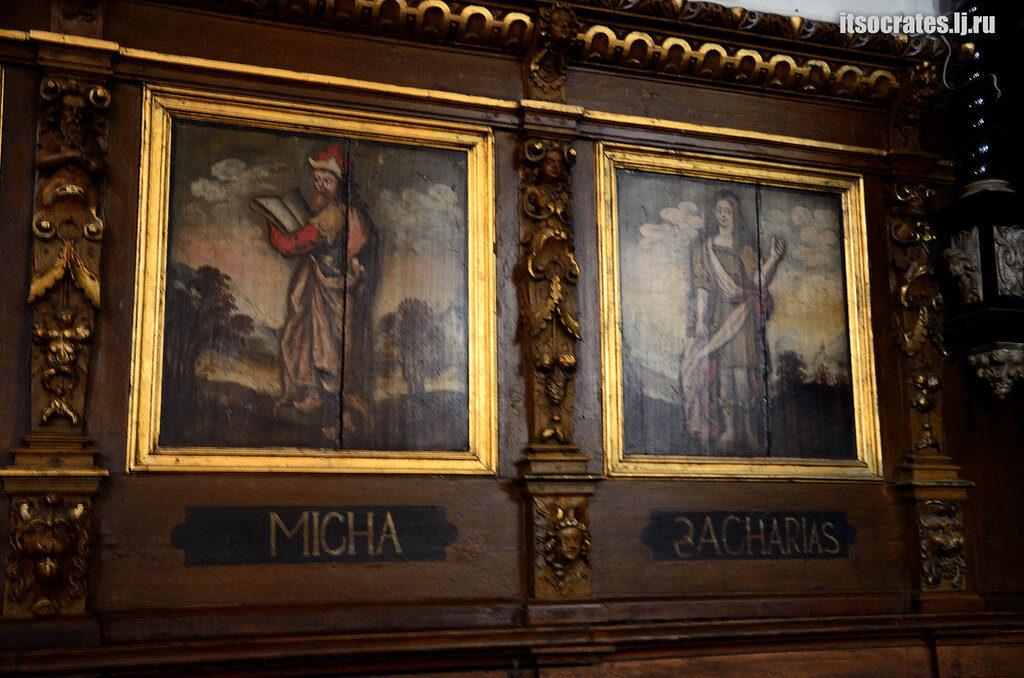 Немецкая церковь одна из знаменитых церквей Стокгольма -картины в церкви Св. Гертруды в старом городе