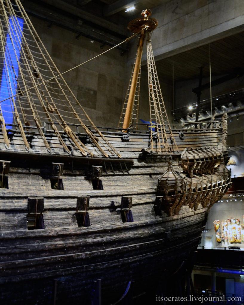 Корабль васа в Стокгольме - музей построенный вокруг древнего корабля