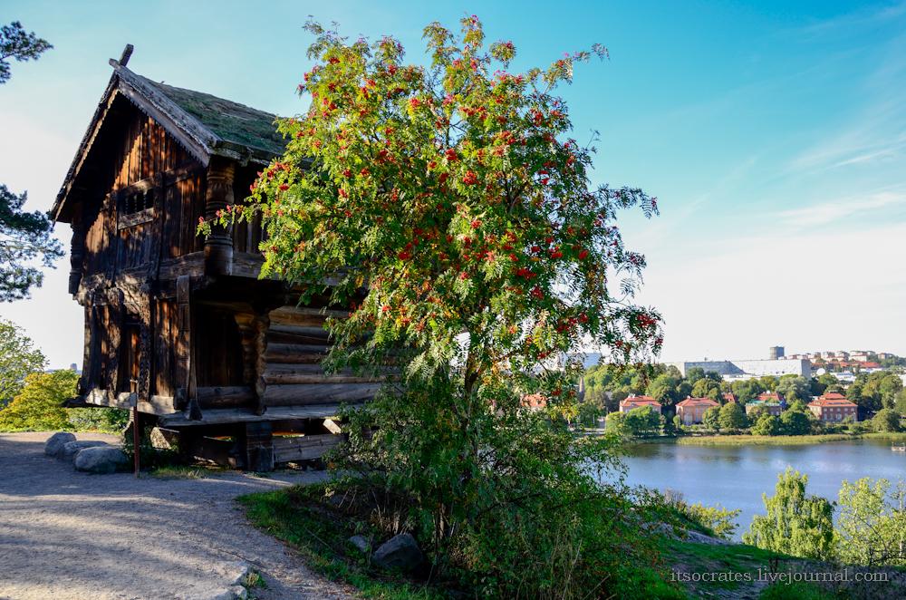 Скансен музей под открытым небом в Стокгольме - самая древняя изба