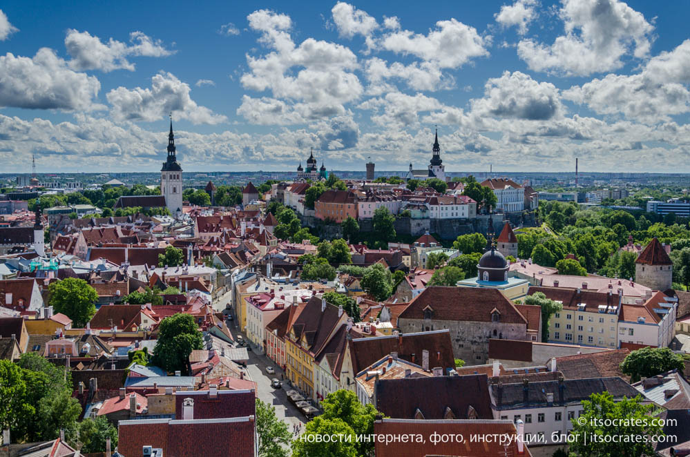 Фото прогулка в старом городе, в Таллине, Эстония