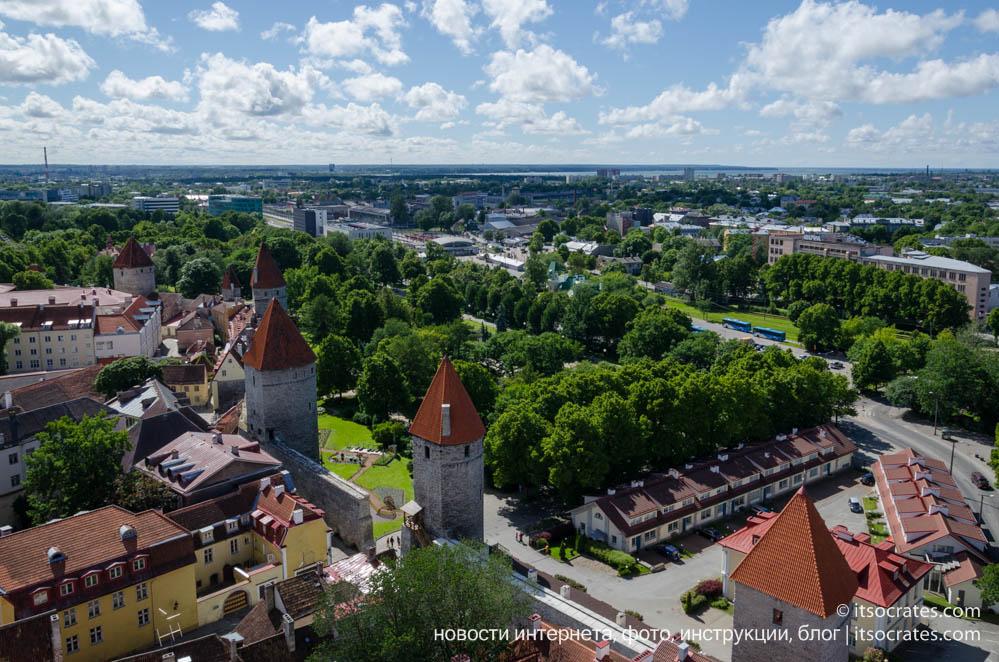 Фото Таллина - вид на Таллин с обзорной площадки