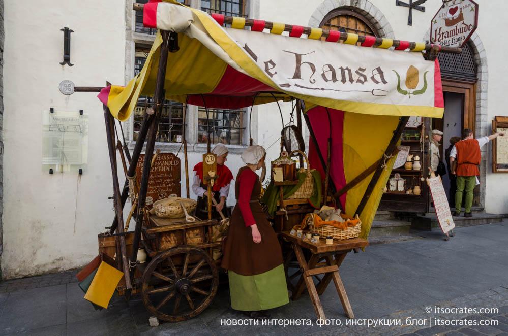Olde Hansa обзор и отзыв о ресторане в старом городе Таллина, Эстония