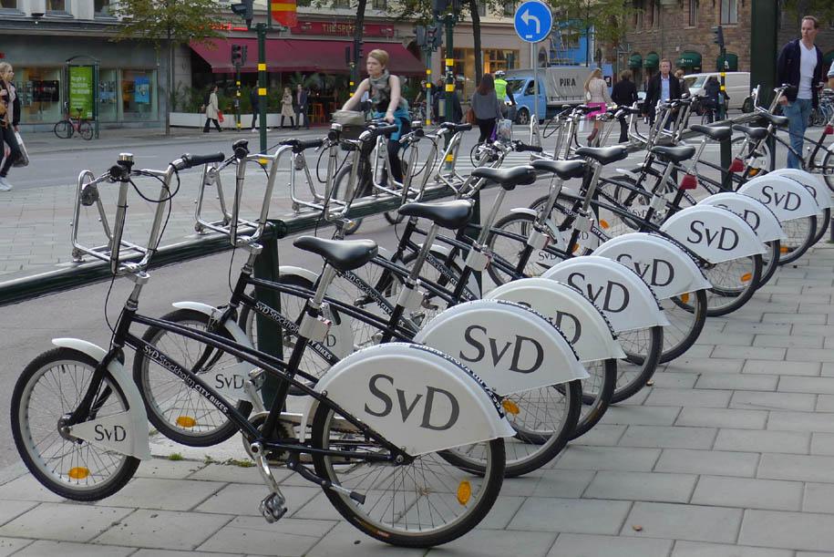 Бесплатный прокат велосипедов в Стокгольме, Швеция