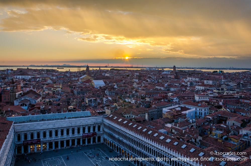 Чудесный вид на Венецию с Кампанилы собора Святого Марка