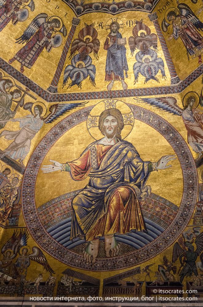 Баптистерий Сан-Джованни во Флоренции, Италия - фрески купола баптистерия