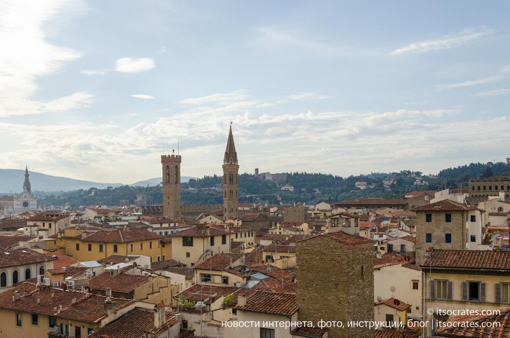Купол Брунеллески и колокольня собора Санта-Мария-дель-Фьоре во Флоренции
