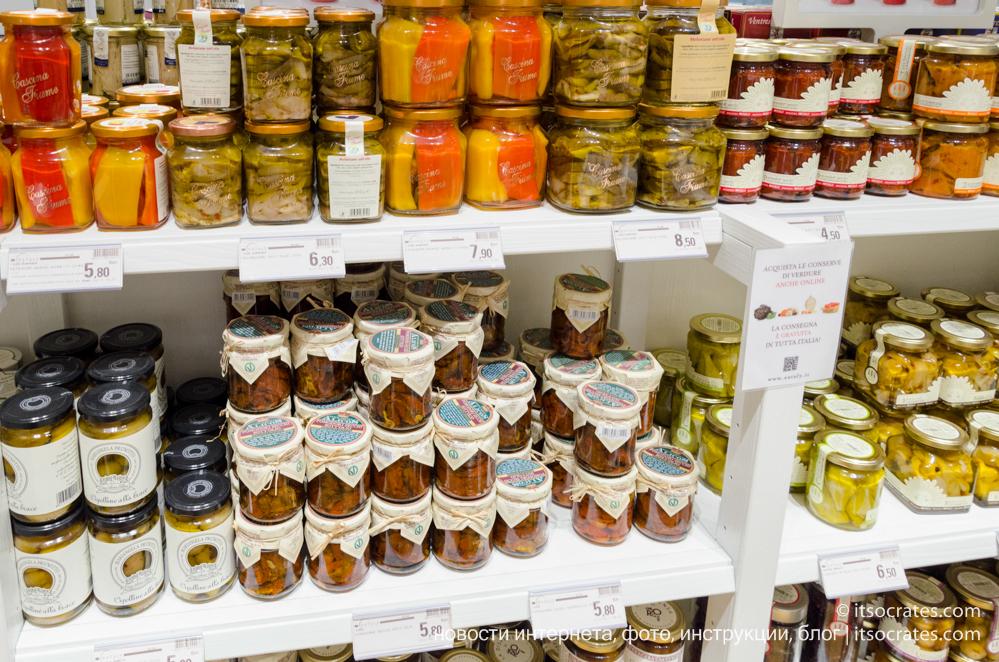 Центр чревоугодия итальянской еды - сеть магазинов EATALY, Милан, Италия