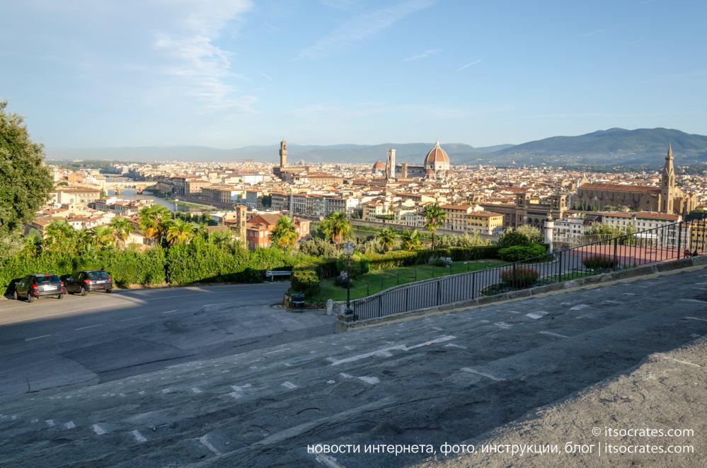 Площадь Микеланджело - фото площади Микеланджело во Флоренции и вид на город