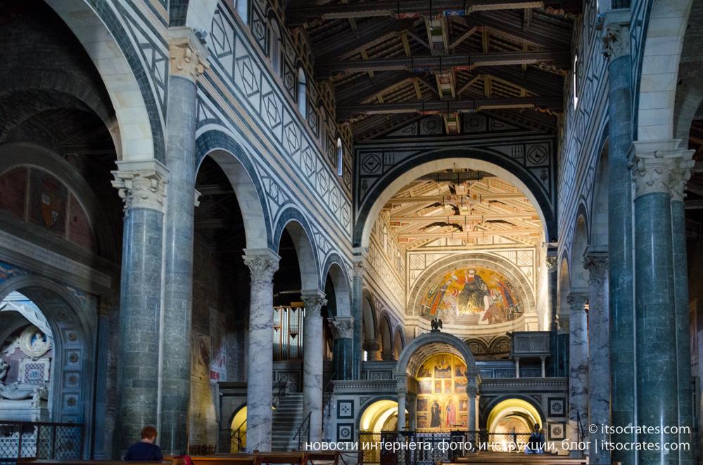 Площадь Микеланджело - Базилика Сан-Миниато-аль-Монте - Интерьер церкви