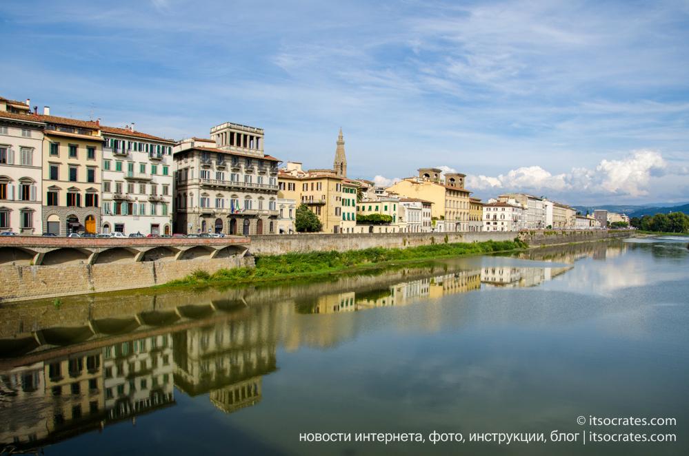 Площадь Микеланджело - вид на реку Арно во Флоренции