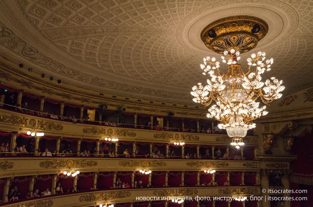 Оперный театр Ла Скала в Милане, Италия
