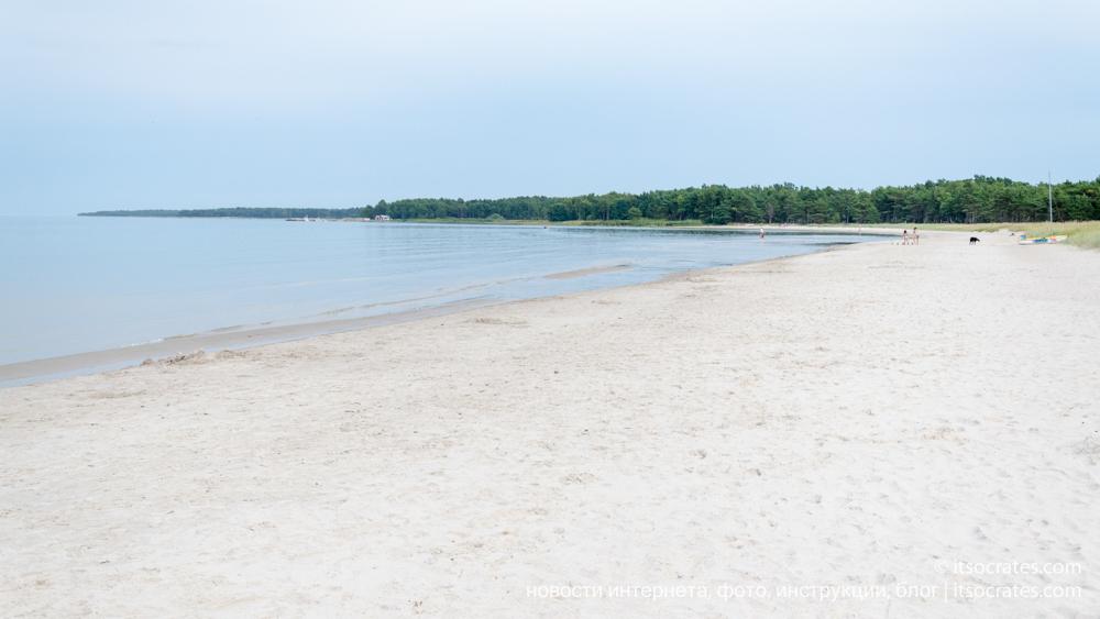 Остров Форё рядом с островом Готланд - песчанный пляж Судерсанд на острове