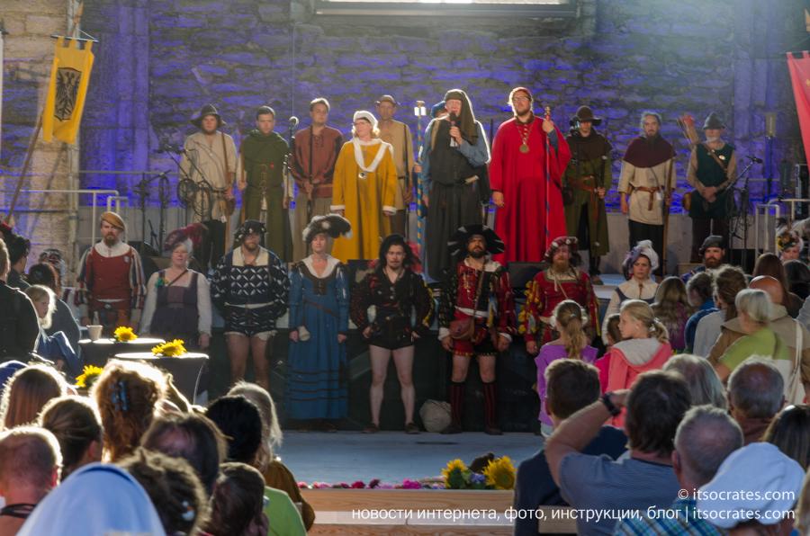 Фестиваль Неделя средневековья на острове Готланд в Швеции - концерт закрытия фестиваля