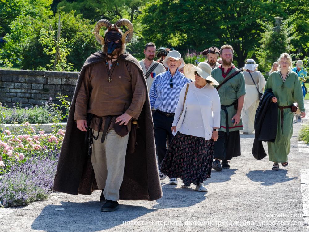 Фестиваль Неделя средневековья на острове Готланд в Швеции - средневековые экскурсии по городу Висбю