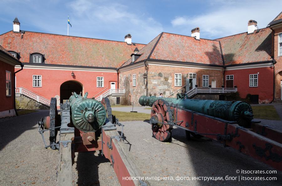 Замок Грипсхольм в Швеции - русские пушки в замке Грипсхольм
