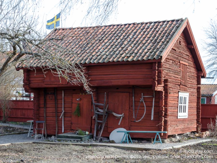 Мариафред город в Швеции - достопримечательности города - старинный дом