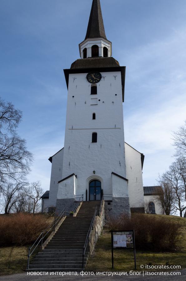 Мариафред город в Швеции - достопримечательности города - церковь города