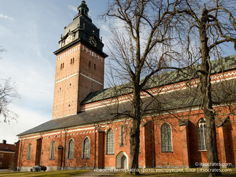 Пригород Стокгольма - Стренгнес. Кафедральный собор. Мельница.