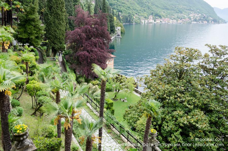Вилла Монастеро в Варенне на озере Комо, фотографии сада