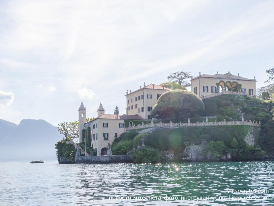 Вид на виллу Бальбьянелло с катера
