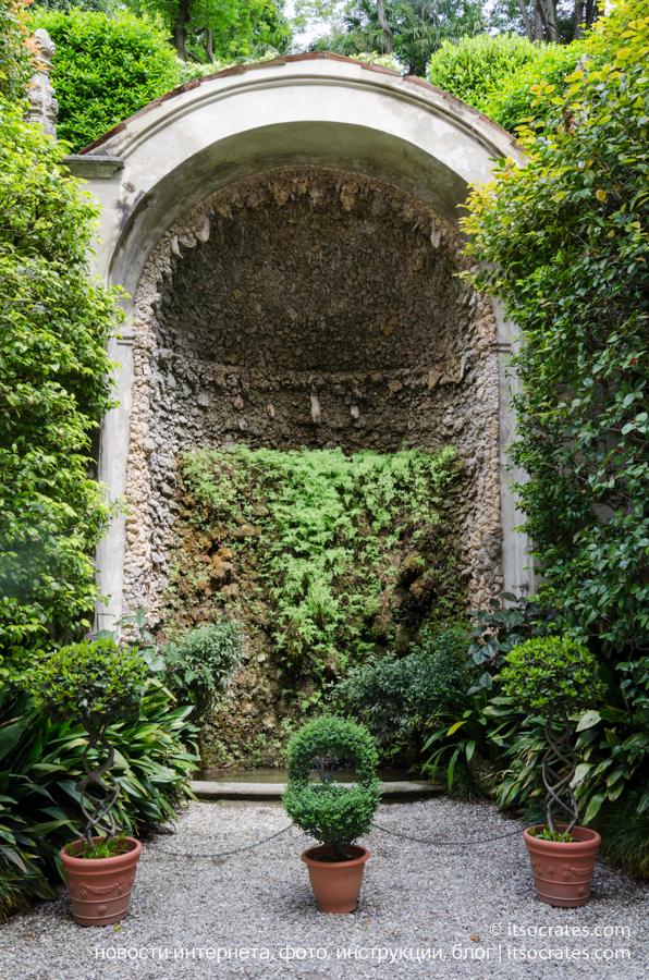 Вилла Карлотта - фотографии зеленой стены с водопадом, Комо