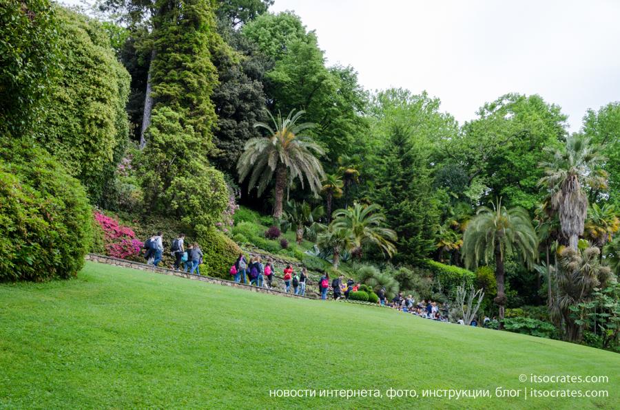 Вилла Карлотта - фото садов виллы на озере Комо