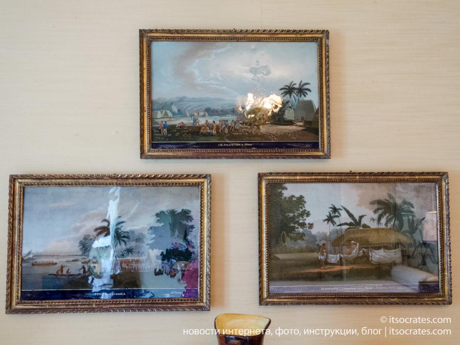 Музей виллы Бальбьянелло графа Гвидо Монзино, его коллекции и интерьер виллы Бальбьянелло - картины на стекле