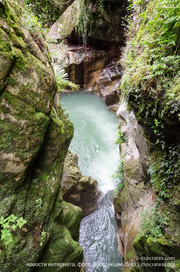 Ущелье Орридо в Беллано, озеро Комо - фото водопада