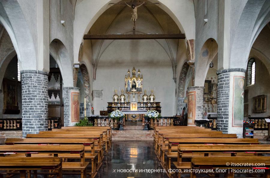 Варенна - озеро Комо - церковь Святого Георгия алтарь