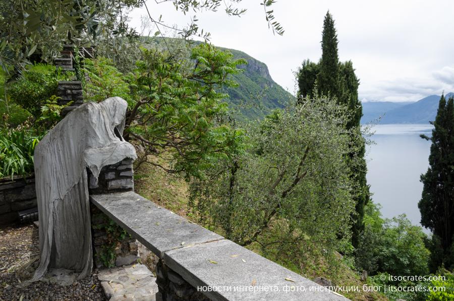 Замок Вецио - смотровая площадка на озеро Комо с фигурой призрака