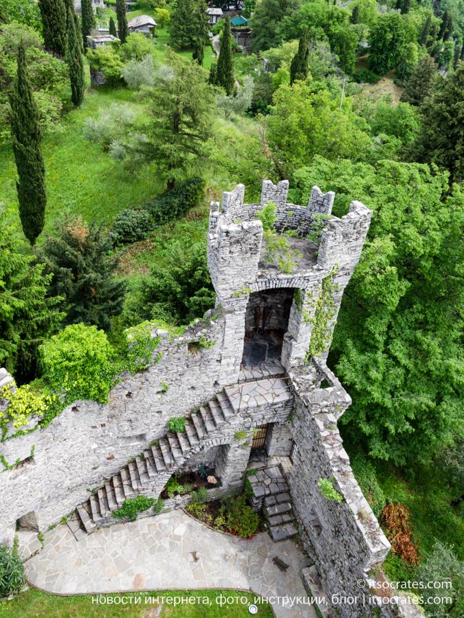 Замок Вецио - смотровая площадка на озеро Комо - руины замка