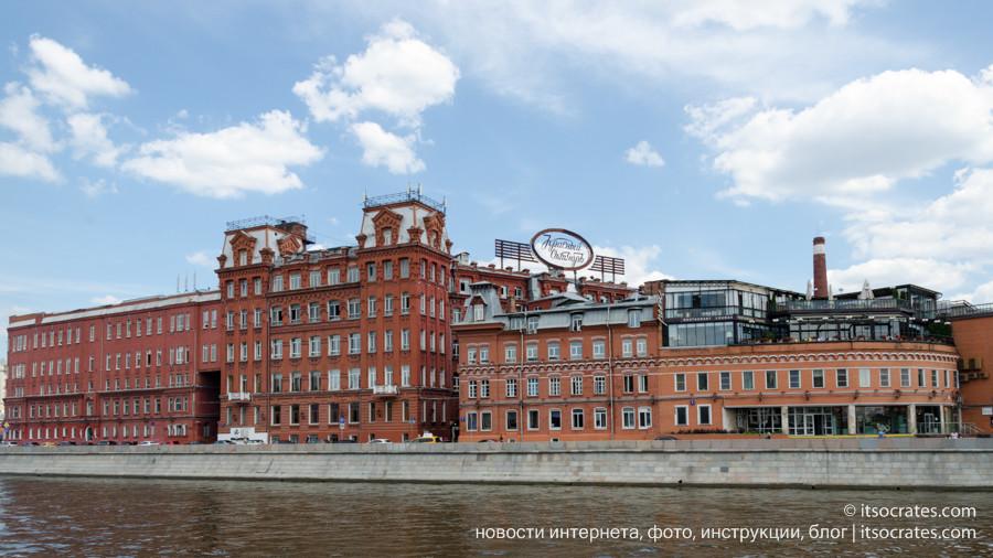Фото прогулка на речном трамвайчике по Москве реке  - вид на фабрику Красный Октябрь