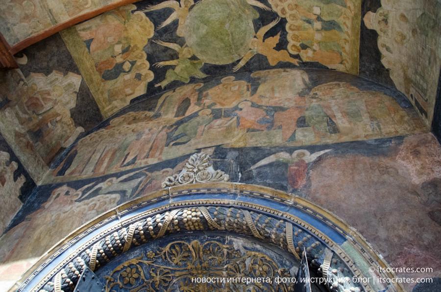 Соборная площадь в Кремле - Роспись стен и потолка в Благовещенском соборе