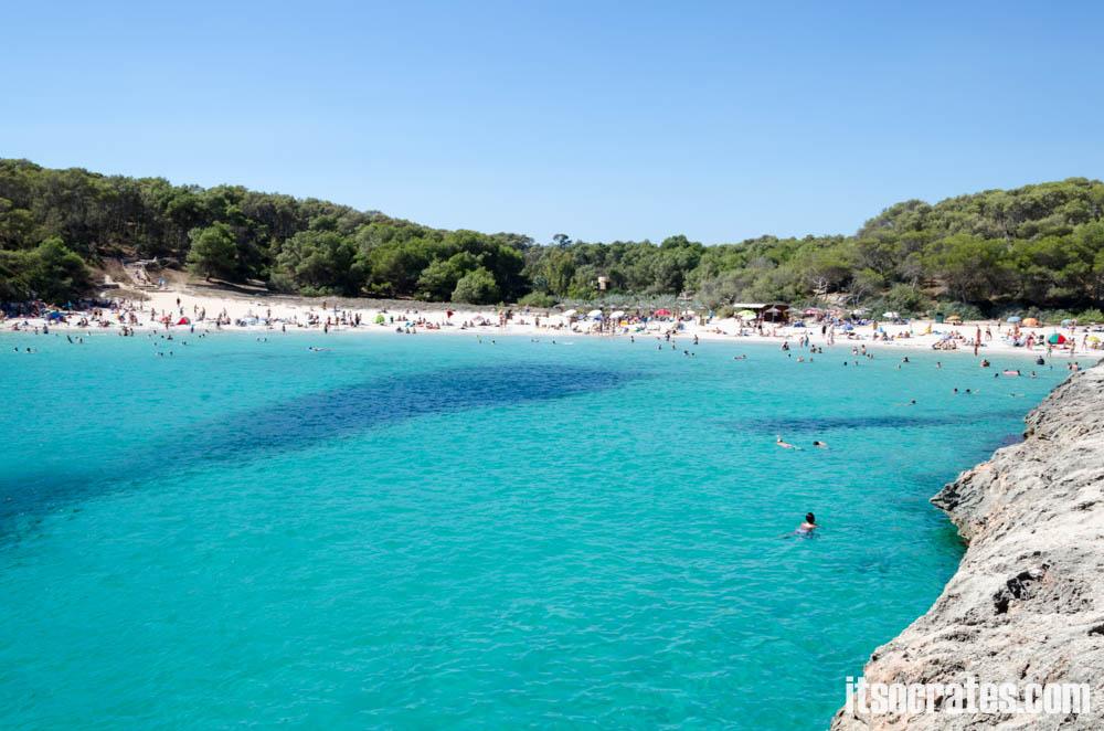 Пляжи острова Майорка - Кала Ломбардс - чудесный пляж без волн, с прозрачной водой