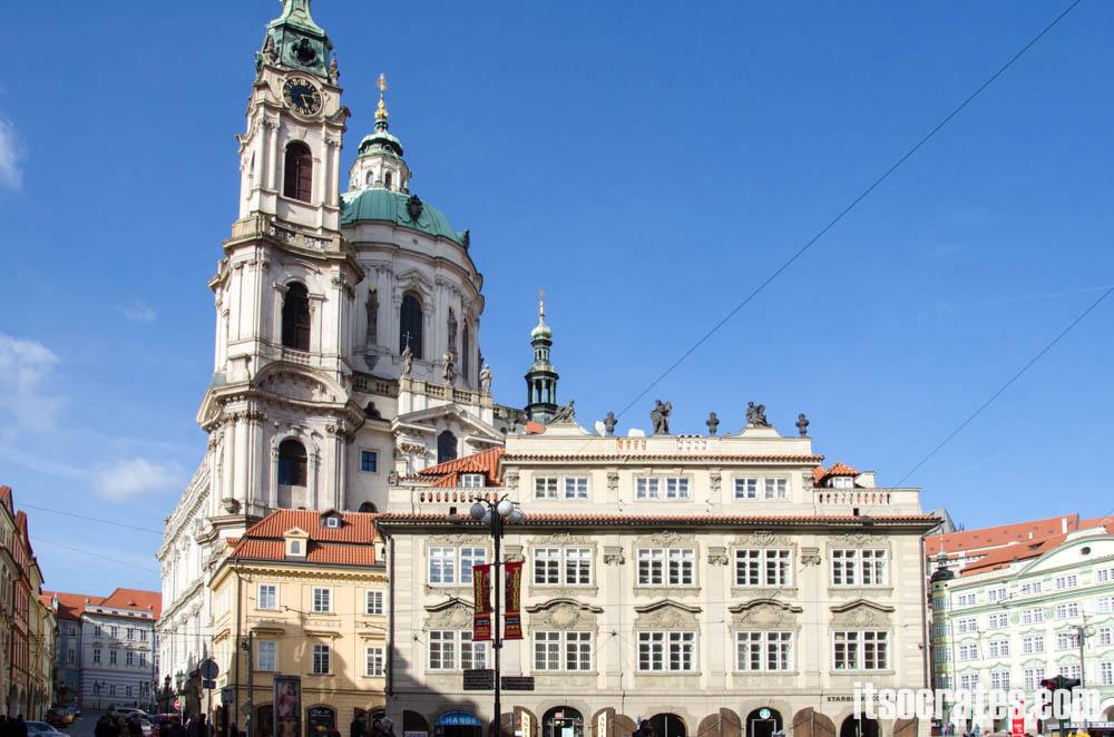 Достопримечательности Праги - Пражский град, Храм Св. Николая на Малой Стороне