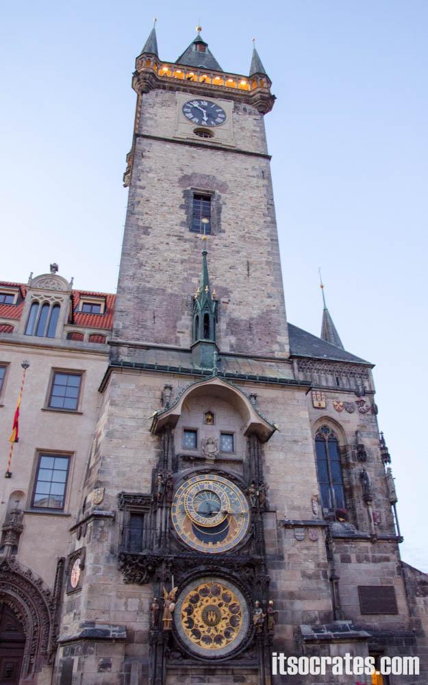Достопримечательности Праги - Пражский град, куранты на староместской площади