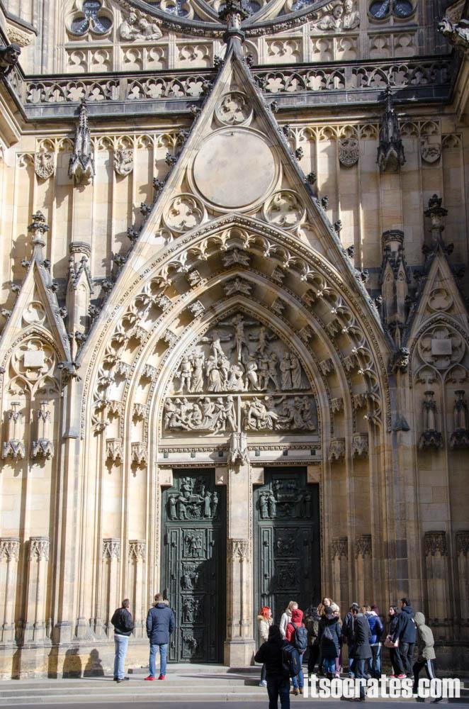 Прага - Собор Святого Вита - главный вход