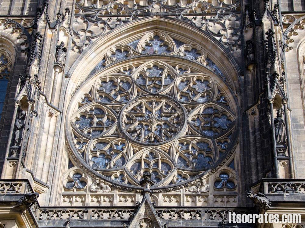Прага - Собор Святого Вита - западный фасад собора