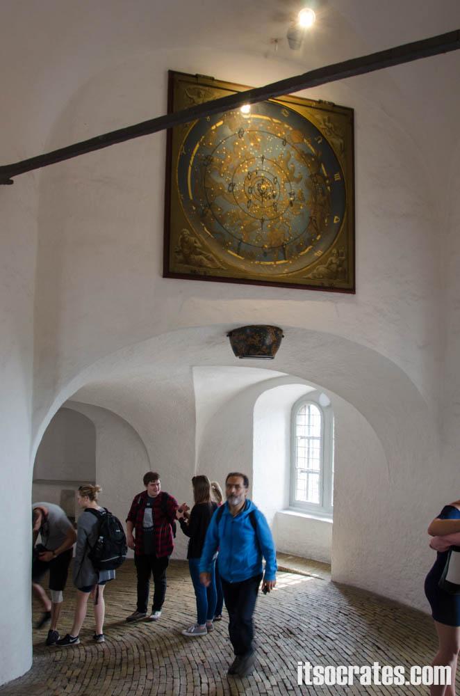 Достопримечательности Копенгагена, Дания - Круглая башня - внутри башни
