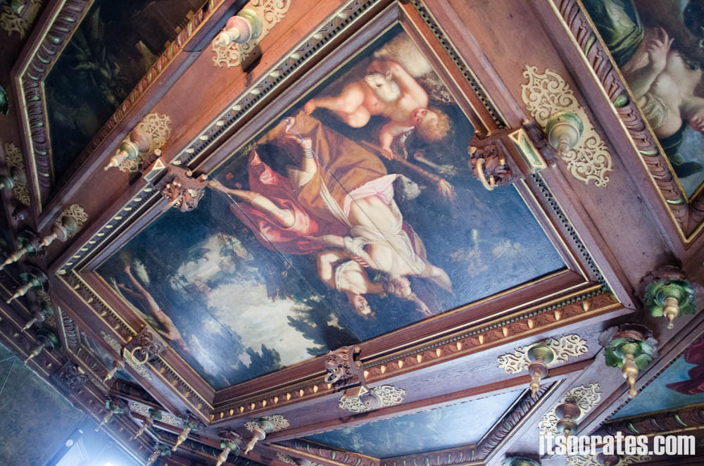 Замок Розенборг - главная достопримечательностей Копенгагена, Дания - расписные потолки