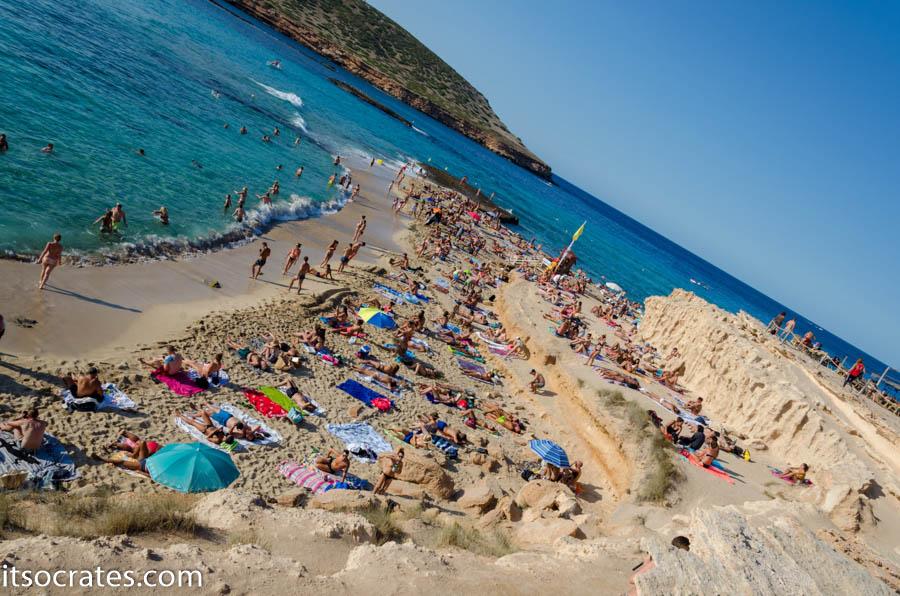 Пляж Конте на острове Ибица