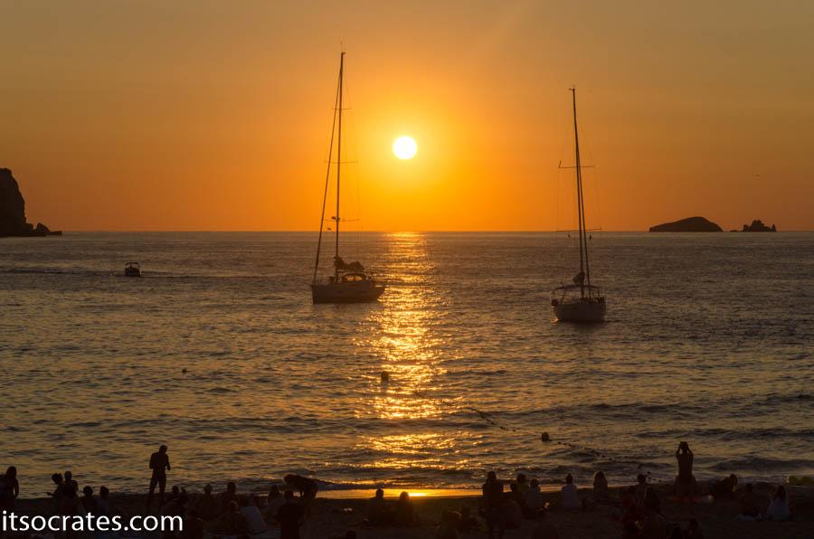 Ибица самый крутой закат на пляже